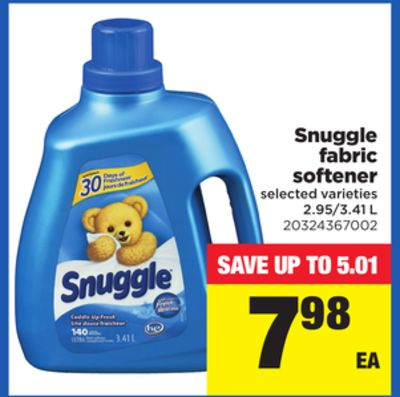 Snuggle Fabric Softener - 2.95/3.41 L