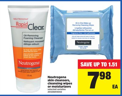 Neutrogena Skin Cleansers - Cleansing Wipes Or Moisturizers
