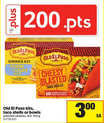 Old El Paso Kits - Taco Shells Or Bowls - 144- 510 g