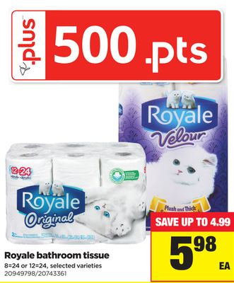 Royale Bathroom Tissue - 8=24 or 12=24
