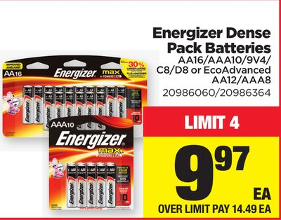 Energizer Dense Pack Batteries