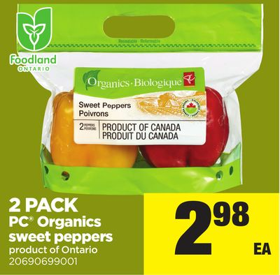 2 Pack PC Organics Sweet Peppers
