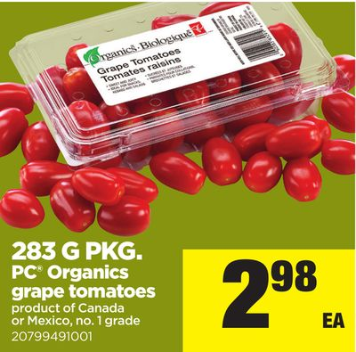 283 G Pkg PC Organics Grape Tomatoes