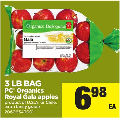 3 Lb Bag PC Organics Royal Gala Apples
