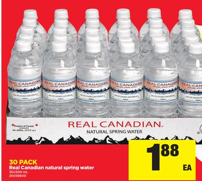 Real Canadian Natural Spring Water - 30x500 mL