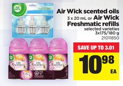 Air Wick Scented Oils - 3 X 20 mL or Air Wick Freshmatic Refills - 3x175/180 g