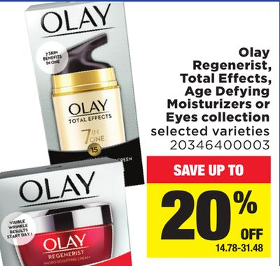 Olay Regenerist - Total Effects - Age Defying Moisturizers Or Eyes Collection
