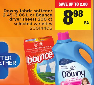 Downy Fabric Softener - 2.45–3.06 L Or Bounce Dryer Sheets - 200 Ct