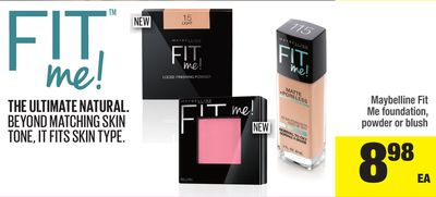 Maybelline Fit Me Foundation - Powder Or Blush