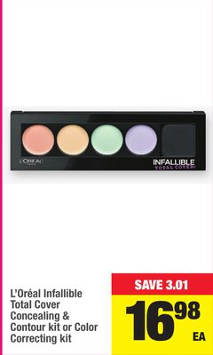 L'oréal Infallible Total Cover Concealing & Contour Kit Or Color Correcting Kit