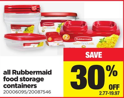 All Rubbermaid Food Storage Containers