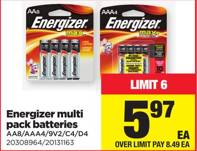 Energizer Multi Pack Batteries