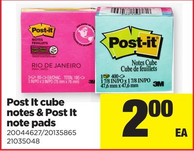 Post It Cube Notes & Post It Note Pads