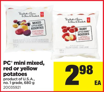 PC Mini Mixed - Red Or Yellow Potatoes