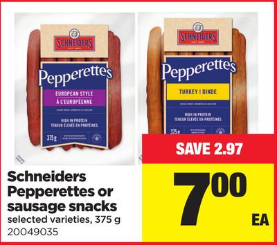 Schneiders Pepperettes Or Sausage Snacks - 375 g
