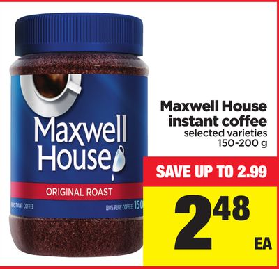 Maxwell House Instant Coffee - 150-200 g