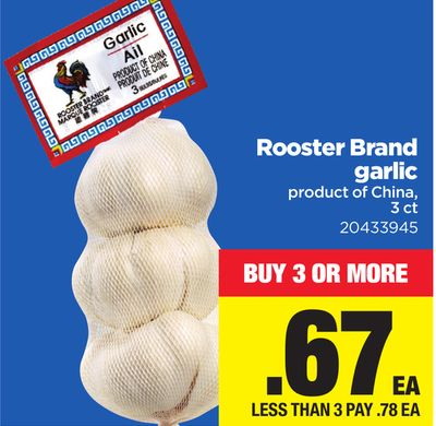 Rooster Brand Garlic - 3 Ct