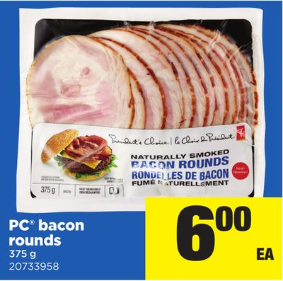 PC Bacon Rounds - 375 g