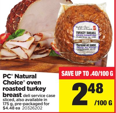 PC Natural Choice Oven Roasted Turkey Breast - 175 g