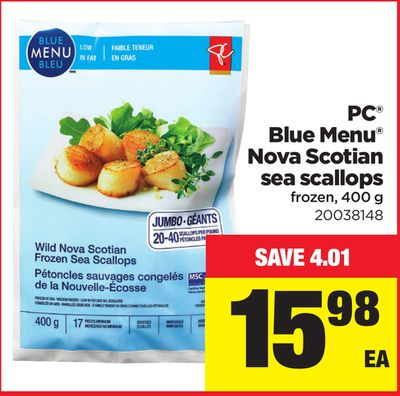 PC Blue Menu Nova Scotian Sea Scallops - 400 g