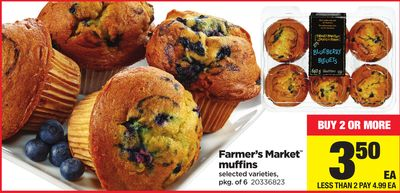 Farmer's Market Muffins - Pkg of 6