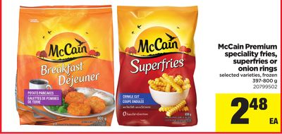 Mccain Premium Speciality Fries - Superfries Or Onion Rings - 397-800 g