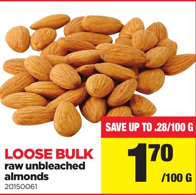 Raw Unbleached Almonds