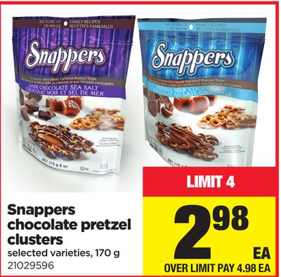 Snappers Chocolate Pretzel Clusters - 170 g