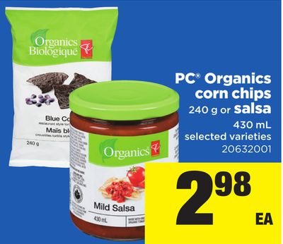 PC Organics Corn Chips - 240 g or Salsa - 430 mL