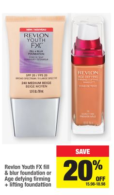Revlon Youth Fx Fill & Blur Foundation Or Age Defying Firming + Lifting Foundation