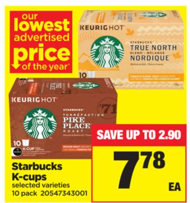 Starbucks K-cups - 10 Pack
