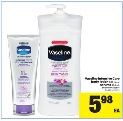 Vaseline Intensive Care Body Lotion - 600 Ml Or Serums - 200 Ml