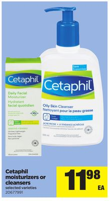 Cetaphil Moisturizers Or Cleansers