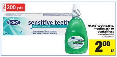 Exact Toothpaste - Mouthwash Or Dental Floss