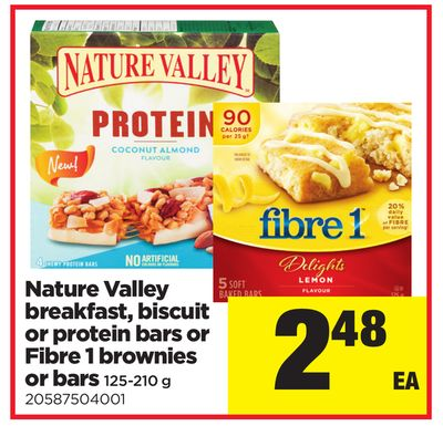Nature Valley Breakfast - Biscuit Or Protein Bars Or Fibre 1 Brownies Or Bars - 125-210 G
