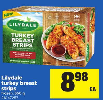 Lilydale Turkey Breast Strips - 550 g