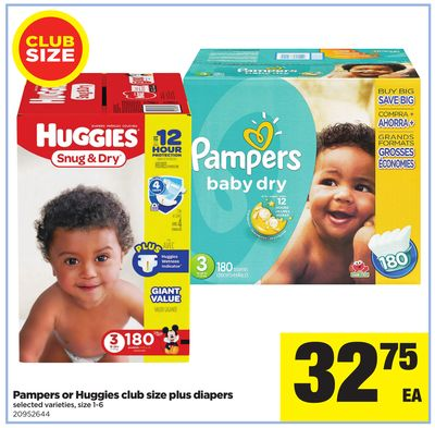 Pampers Or Huggies Plus Diapers - Size 1-6