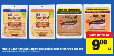 Maple Leaf Natural Selections Deli Sliced Or Carved Meats - 375/400 g