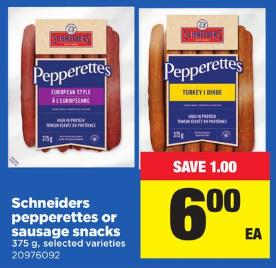 Schneiders Pepperettes Or Sausage Snacks 375 g