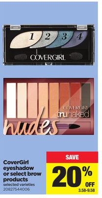 Covergirl Eyeshadow Or Select Brow Products