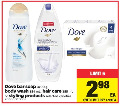 Dove Bar Soap - 4x90 G - Body Wash - 354 Ml - Hair Care - 355 Ml Or Styling Products