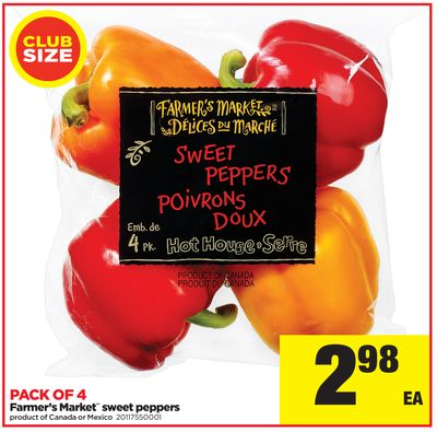 Farmer's Market Sweet Peppers - Pack Of 4