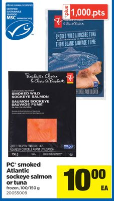 PC Smoked Atlantic Sockeye Salmon Or Tuna - 100/150 g