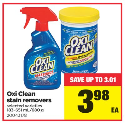 Oxi Clean Stain Removers - 183-651 Ml/680 g