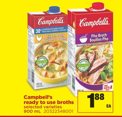 Campbell's Ready To Use Broths - 900 mL