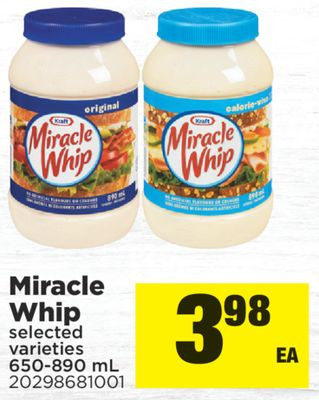 Miracle Whip - 650-890 mL