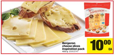 Bergeron Cheese Slices Inspiration Pack - 400 g