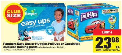 Pampers Easy Ups Or Huggies Pull Ups Or Goodnites - 34-80's
