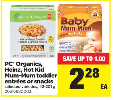 PC Organics - Heinz - Hot Kid Mum-mum Toddler Entrées Or Snacks - - 42-201 g