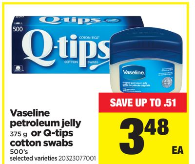 Vaseline Petroleum Jelly - 375 G Or Q-tips Cotton Swabs - 500's